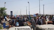 KABUL, AFGHANISTAN-AUGUST 21: Afghans continue to wait around the Hamid Karzai International Airport as they try to flee the Afghan capital of Kabul, Afghanistan on August 21, 2021. Sayed Khodaiberdi Sadat / Anadolu Agency