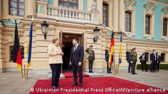 Ангела Меркель и Владимир Зеленский в Киеве