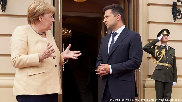 Ukraine | Angela Merkel und Wolodymyr Selenskyj