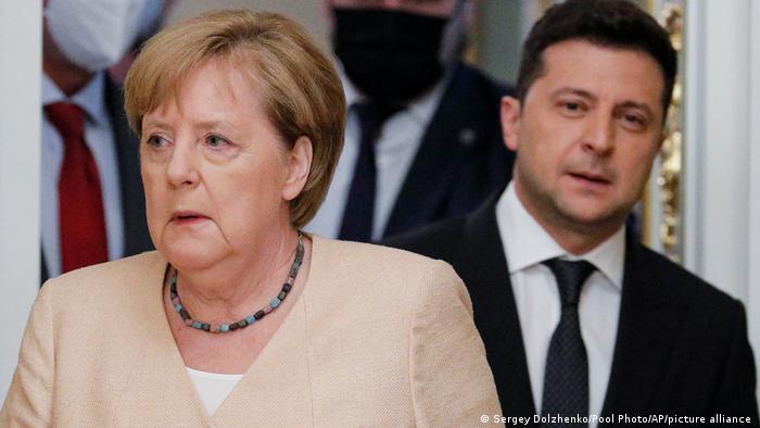 Ангела Меркель и Владимир Зеленский