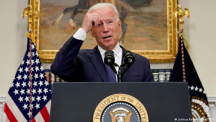 US-Präsident Biden bei einer Pressekonferenz im Weißen Haus