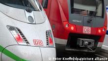 22.08.2021 Ein ICE und ein Regionalzug stehen am Hauptbahnhof. Die Gewerkschaft Deutscher Lokomotivführer (GDL) hat ihre Mitglieder zum Streik bei der Deutschen Bahn AG (DB) im Personenverkehr am Montag und Dienstag aufgerufen.