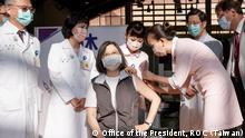 23.08.2021 Taiwan President Tsai Ing-Wen gets her first shot of Medigen, a Taiwan-made vaccine.