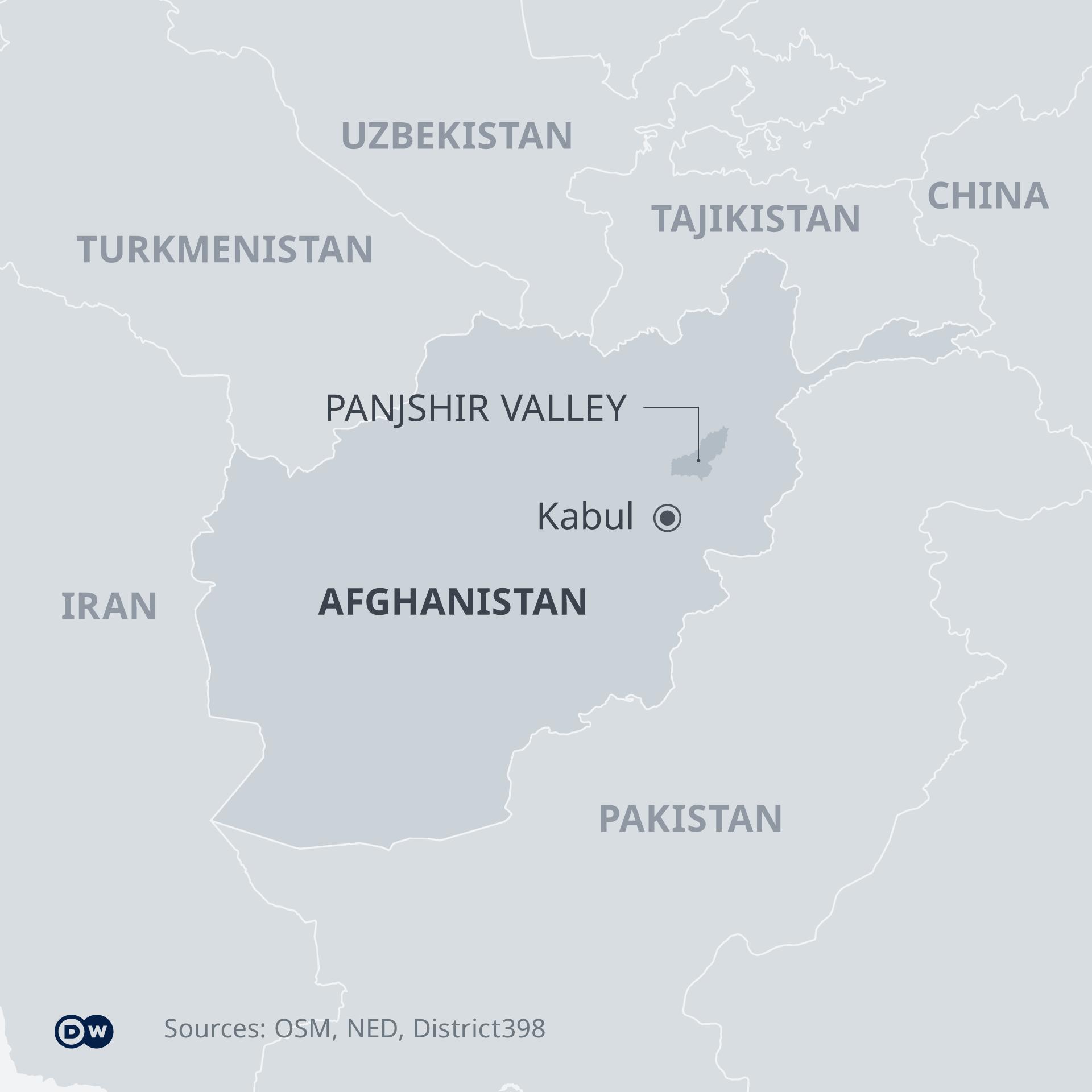Panjshir valley map