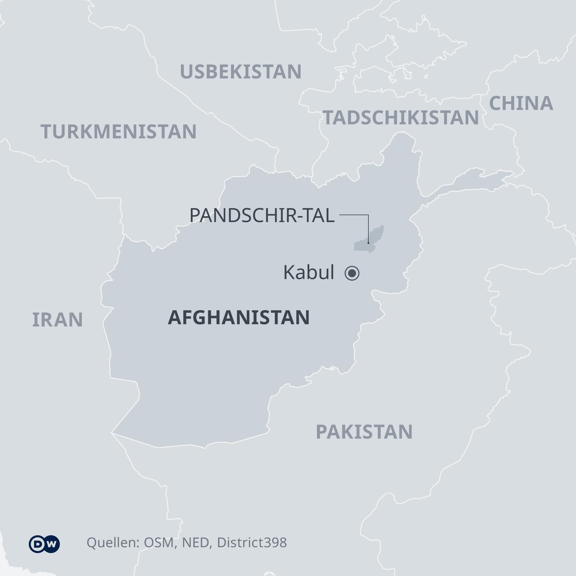 Karte Afghanistan Pandschir Tal DE