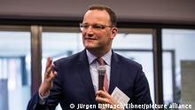 Gesundheitsminister Jens Spahn CDU in Moessingen, Bundestagswahlkampf 2021, 20.08.2021, Foto: EIBNER/Jürgen Biniasch