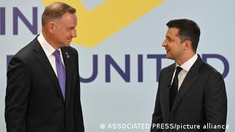 Анджей Дуда и Владимир Зеленский на саммите Крымской платформы