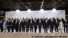 KIEV, UKRAINE - AUGUST 23: Leaders pose for a family photo during Crimea Platform summit in Kiev, Ukraine on August 23, 2021. A total of 40 countries have confirmed they will attend the Crimea Platform summit in Kiev on Aug. 23, Ukraine's foreign minister said on Friday. Fatih Aktas / Anadolu Agency