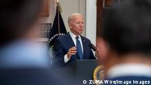 August 22, 2021, Washington, District of Columbia, USA: United States President Joe Biden makes remarks providing an update on the evacuation of American citizens, SIV applicants and their families, and vulnerable Afghans from Kabul as well as an update on his administration s response to Hurricane Henri in the Roosevelt Room of the White House in Washington, DC on Sunday, August 22, 2021 Washington USA - ZUMAs152 20210822_zaa_s152_004 Copyright: xKenxCedenox-xPoolxviaxCNPx