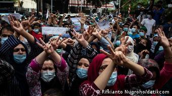 Indonesien | Flüchtlinge aus Afghanistan protestieren in Jakarta