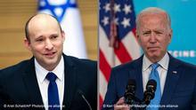 Bildkombo Naftali Bennett und Joe Biden