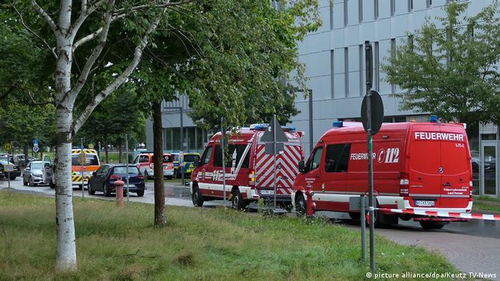 Menschen mit Vergiftungserscheinungen an der TU-Darmstadt
