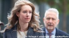 Elizabeth Holmes, founder and former CEO of Theranos, arrives for motion hearing on Monday, November 4, 2019, at the U.S. District Court House inside Robert F. Peckham Federal Building in San Jose, California. (Photo by Yichuan Cao/NurPhoto)