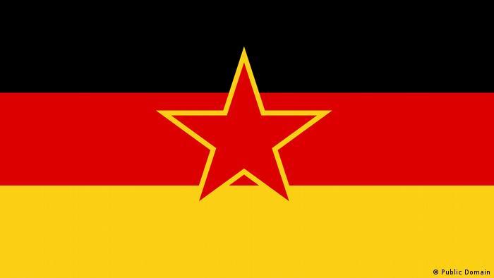 Flagge der deutschen Minderheit im sozialistischen Jugoslawien