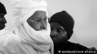 Hissène Habré, au cours de son procès à Dakar en 2016