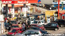 Chaos and soldiers as hundreds of Lebanese wait in line for fuel at a gas station near Jbeil, north of Beirut, Lebanon on August 19, 2021. Situation got more and more difficult with sometime up to six hours wait to fuel a car. Photo by Ammar Abd Rabbo/ABACAPRESS.COM