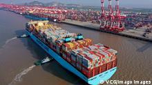 China Shanghai   Containerhafen Yangshan