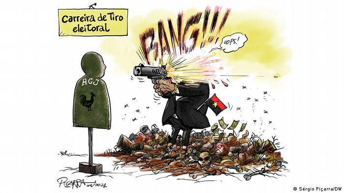 Karikatur: Schießstand in Angola