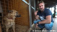19.12.2019., Croatia, Zagreb - Former Royal Marines commando and founder of the Nowzad Dogs charity Pen Farthing, winner of the prestigious CNN Heroes Award in 2014, came to Zagreb only to bring dog Ares to a Croatian soldier, who bonded with a dog on a mission in Afghanistan when Ares was only a month old. The campaign for the arrival of Ares in Croatia was launched by the international organization Nozwad, and many donors helped raise more than HRK 33,000 (around 4,500 euros) to move the merry mix blood from Afghanistan to Zagreb. Photo: Robert Anic/PIXSELL