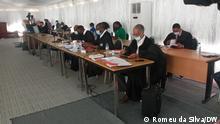 Gerichtsverfahren in Maputo wegen versteckter Schulden 2. Copyright: Romeu da Silva/DW 3. Wann wurde das Bild gemacht: 25.08.2021 4. Wo wurde das Bild aufgenommen: Maputo/Mosambik