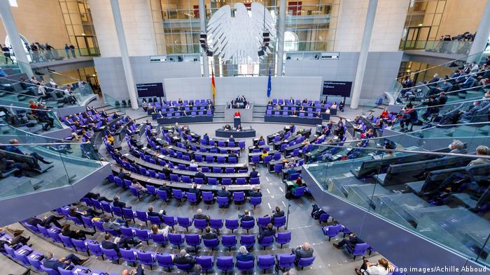 A session of the German Bundestag