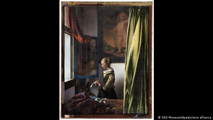 Картина Девушка, читающая письмо у открытого окна (1657/59)