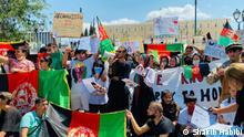Die Lage afghanischer Flüchtlinge in Griechenland Copyright info, etc ist in den Bildern.