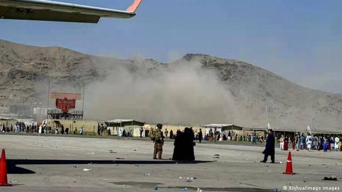 Patlama sonucu oluşan toz bulutu