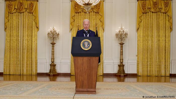 US-Präsident Joe Biden hält in Washington eine Rede über Afghanistan