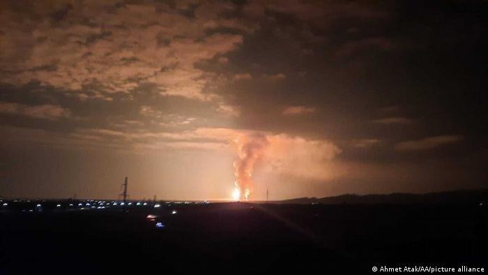 Взрыв на складе боеприпасов на юге Казахстана