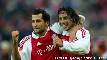 v.l. Hasan Salihamidzic und Claudio Pizarro (Bayern) FC Bayern München - 1. FC Köln 2:2 1. Fußball-Bundesliga Saison 2003/2004 - 14. Spieltag