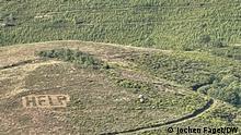 Covas do Barroso, 24.08.2 Portugal | Lithium-Bergwerk in Nordportugal Help', der in die Weidegründe eingeackerte Hilferuf der Bevölkerung von Covas do Barroso