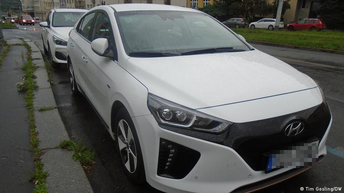 Hyundai electric car in Prague
