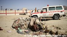 210827 -- KABUL, Aug. 27, 2021 -- An ambulance is seen at the explosion site near the Kabul airport in Afghanistan, Aug. 27, 2021. The death toll from the Kabul airport attacks on Thursday has reportedly risen to at least 103. Photo by /Xinhua AFGHANISTAN-KABUL-AIRPORT ATTACK-EXPLOSION SITE SaifurahmanxSafi PUBLICATIONxNOTxINxCHN