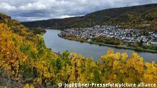 Wanderung durch die herbstlich bunten Weinberge der Mosel bei Winningen und Lay,Themenfoto: Herbst - Foto: Jogi/Eibner-Pressefoto