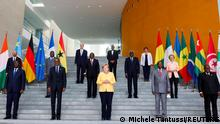President of the African Development Bank, M. Akinwumi?Adesina, President of the?World?Bank?David Malpas, Managing Director of the International?Monetary?Fund (IMF) Kristalina Georgieva, German Chancellor Angela Merkel, European?Council?President Charles Michel, South?African President Cyril Ramaphosa, Ghana's President Nana Akufo-Addo, Senegal's President Macky Sall, Guinea's President Alpha Conde, ?Rwanda's President Paul Kagame, Felix Tshisekedi, President of the Democratic Republic of Congo, President Ursula von der Leyen and African Union (AU) Commission Chairman?Moussa?Faki pose for a picture at the G20 Compact with Africa (CwA) meeting in Berlin, Germany, August 27, 2021. REUTERS/Michele Tantussi