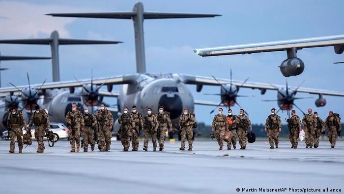 Retorno de soldados alemanes desde Afganistán.