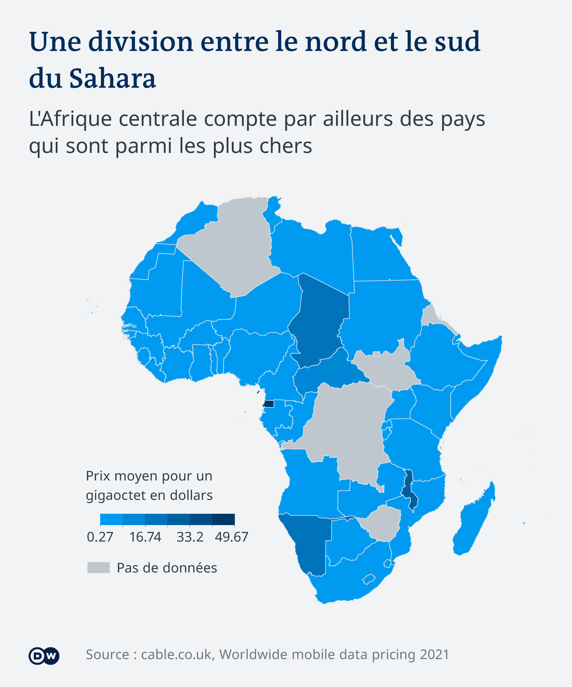 La Guinée équatoriale, le Malawi, le Tchad, la Centrafique et la Namibie sont les pays les plus chers d'Afrique.