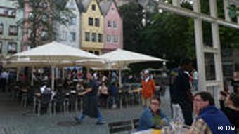 Biergarten 'Ständige Vertretung' in Köln, Außenaufnahme (Foto: DW/Nicklis)