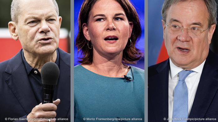 Олаф Шолц (ГСДП), Аналена Бербок (Зелените), Армин Лашет (ХДС/ХСС) - това са основните претенденти за канцлерския пост.