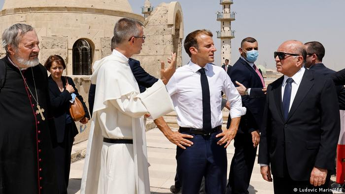 ماكرون في الموصل (29 أغسطس/ آب 2021)