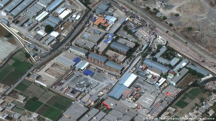 نقشه هوایی از میدان هوایی کابل