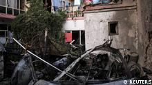 General view of a residence house destroyed after a rocket attack in Kabul, Afghanistan August 29, 2021.REUTERS/Stringer NO RESALES. NO ARCHIVE