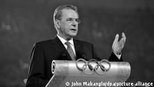 IOC President Jacques Rogge delivers his speech during the Opening Ceremony of the Beijing 2008 Olympic Games, Beijing, China, 08 August 2008. EPA/John Mabanglo +++(c) dpa - Report+++