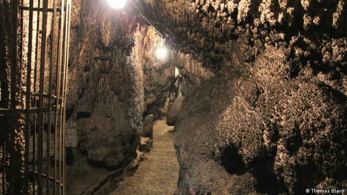 Interior of the dripstone cave of Zwiefaltendorf, Baden-Württemberg, Germany
