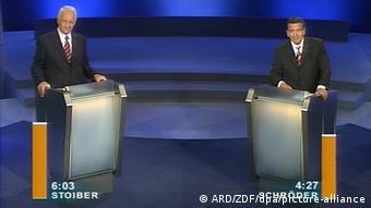 Προεκλογική τηλεμαχία Σρέντερ-Στόιμπερ τον Σεπτέμβριο του 2002