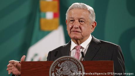 Mexikos Präsident Andres Manuel Lopez Obradorbei einer Rede
