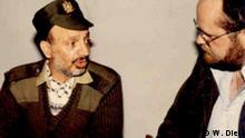 Die Bilder sind exklusiv für die Deutsche Welle und das aktuelle Thema bestimmt. Treffen mit Arafat 1983