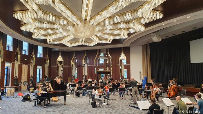 На репетиции молодежного оркестра в Бонне