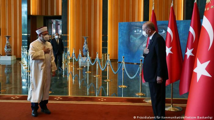 Erbas and President Recep Tayyip Erdogan